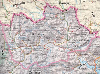 Babia Las Montanas Y Sus Pueblos Mapa De Babia
