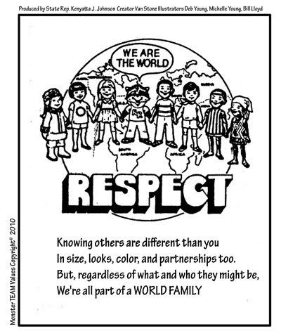Comic strip on respect