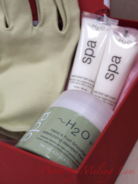 h2o plus hand cream set glove christmas gift