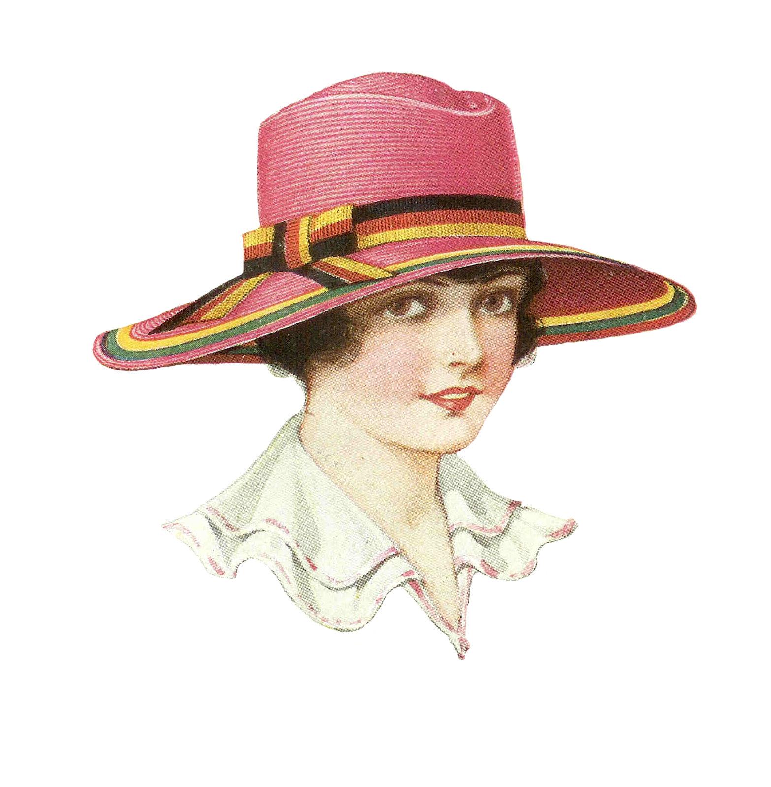 Victorian Hats for Ladies Clip Art | Old Design Shop Blog  |Vintage Hat Art