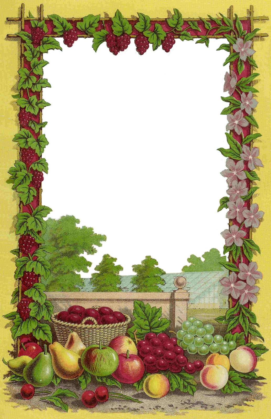 Antique Images: Free Fruit Clip Art: Decorative Frame from ...