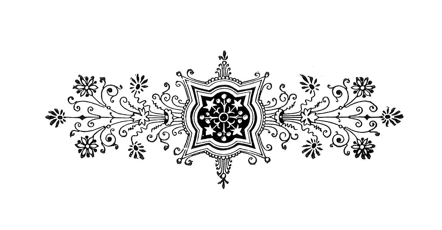free black and white illustration decorative design from antique book