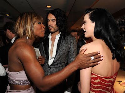 Black Tennis Pro's Serena Williams at 2010 Oscars with Russel Brand and Katy Perry