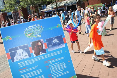 Black Tennis Pro's Arthur Ashe Kid's Day