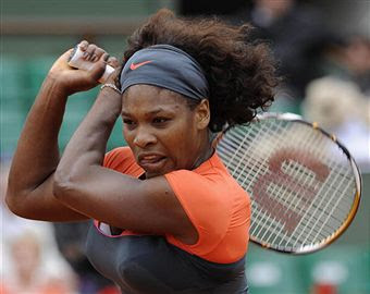 Black Tennis Pro's Serena Williams 2009 French Open vs. Virginia Ruano Pascual
