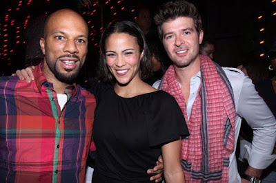 Black Tennis Pro's Common, Paula Patton and Robin Thicke at the