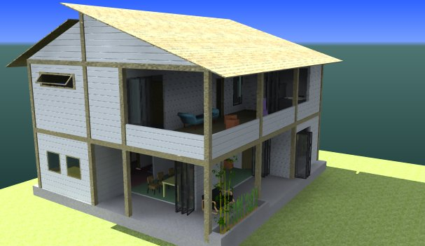Split Roof Design: Architecture: Split Roof House: Voluptuously