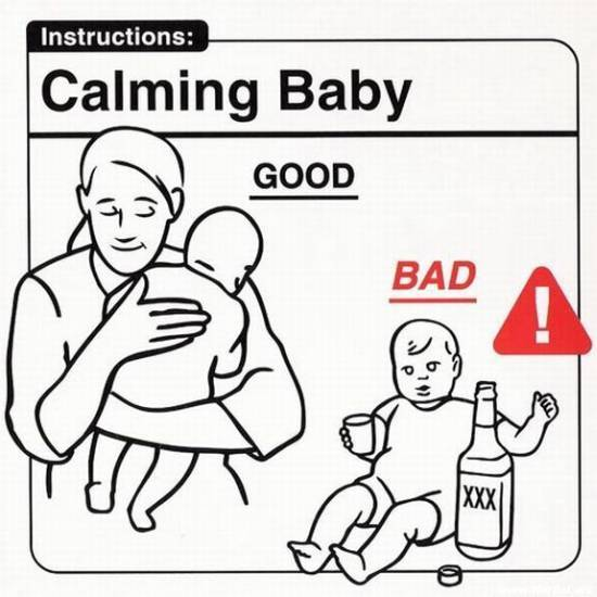 What People Like: (damn funny) Baby-care guide for parents