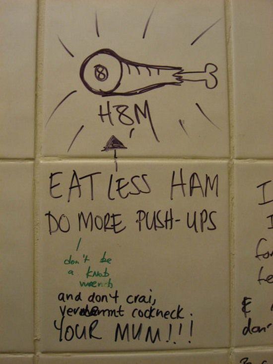 51 Creative Bathroom Wall Graffiti Designs | Curious ...