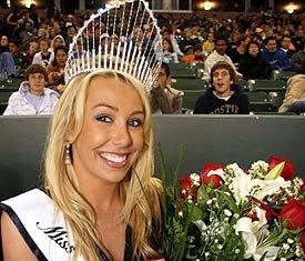 Julie Bornemann winner of the Miss LA Galaxy 2008