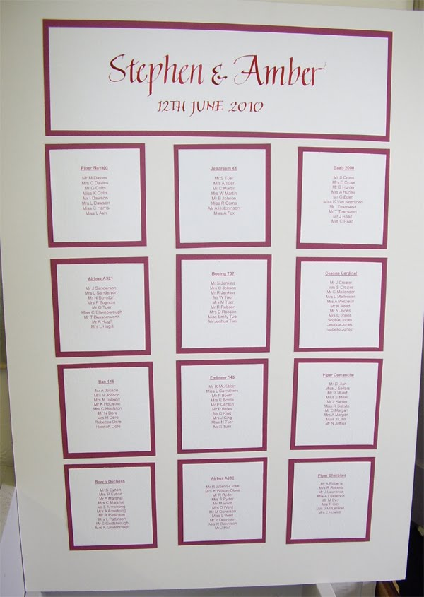 Inspired By Script: Wedding Seating Plan