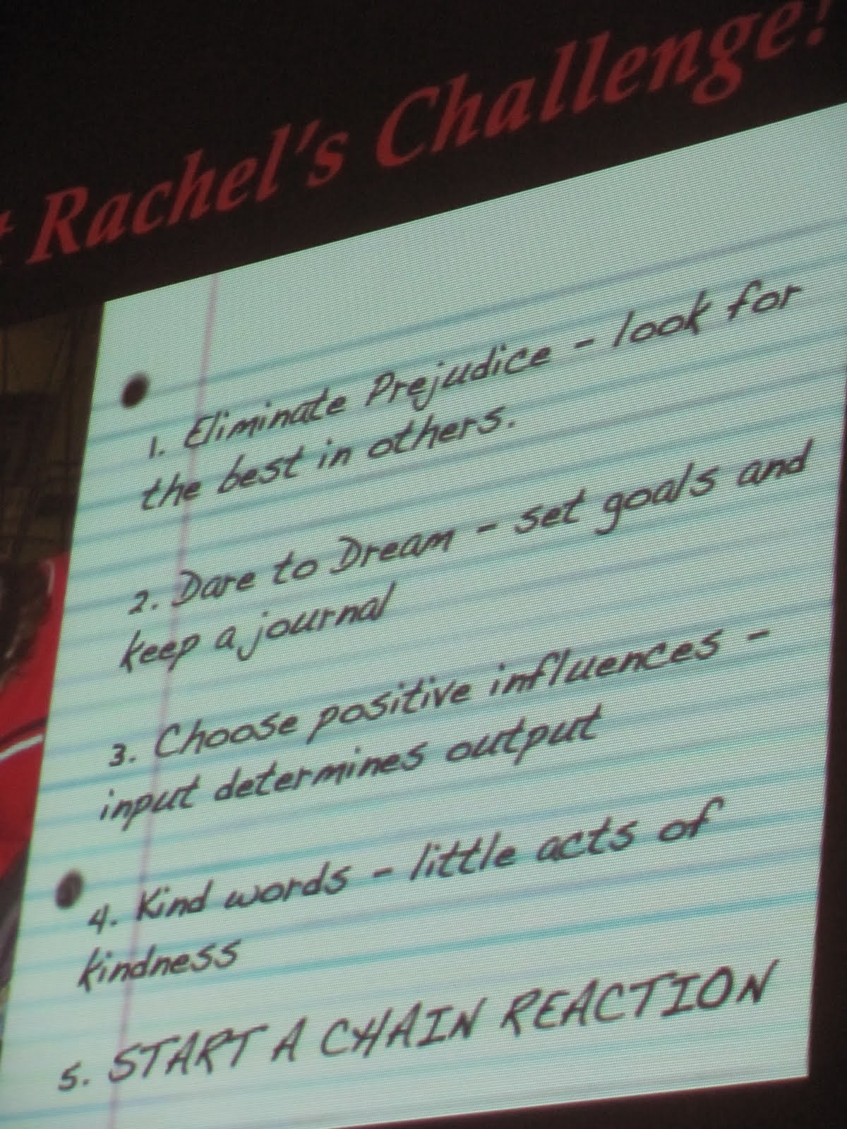 Rachels Challenge Quotes Quotesgram