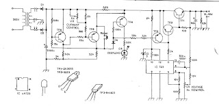 Power Supply Circuit: Circuit power supply regulator 0-50V