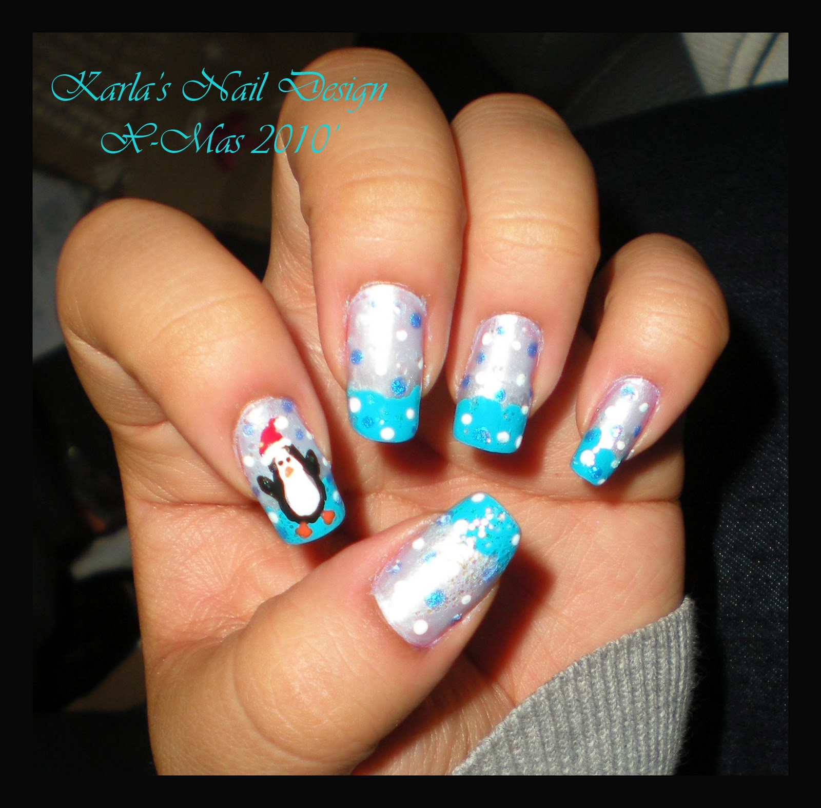 Christmas Penguin Nails - Viewing Gallery