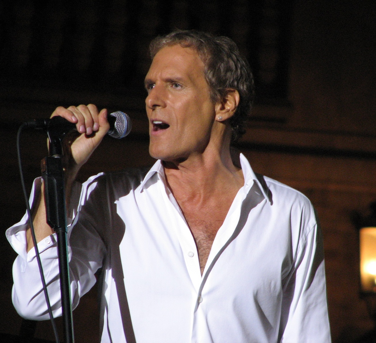 Michael Bolton Performs At Concert Minutes After Dancing w