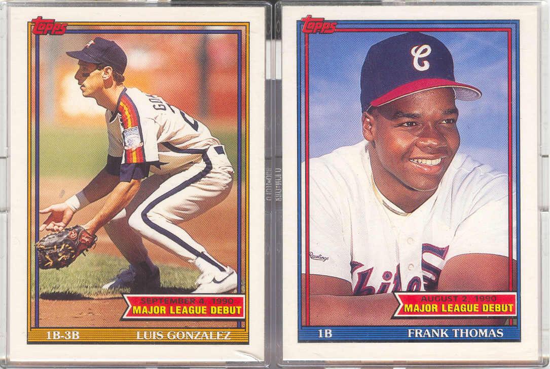Bdj610s Topps Baseball Card Blog Comparing The Major League Debut