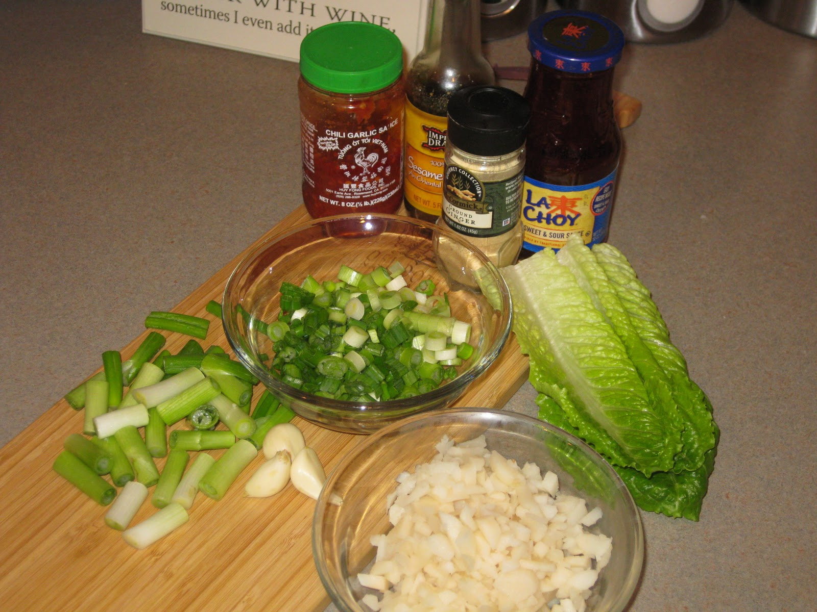 thestewdenver lettuce wraps with sweet  spicy sauce
