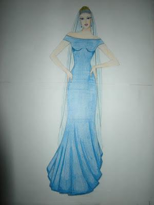 prof d 39 art appliqu en lyc e pro robe de mari e bleue. Black Bedroom Furniture Sets. Home Design Ideas
