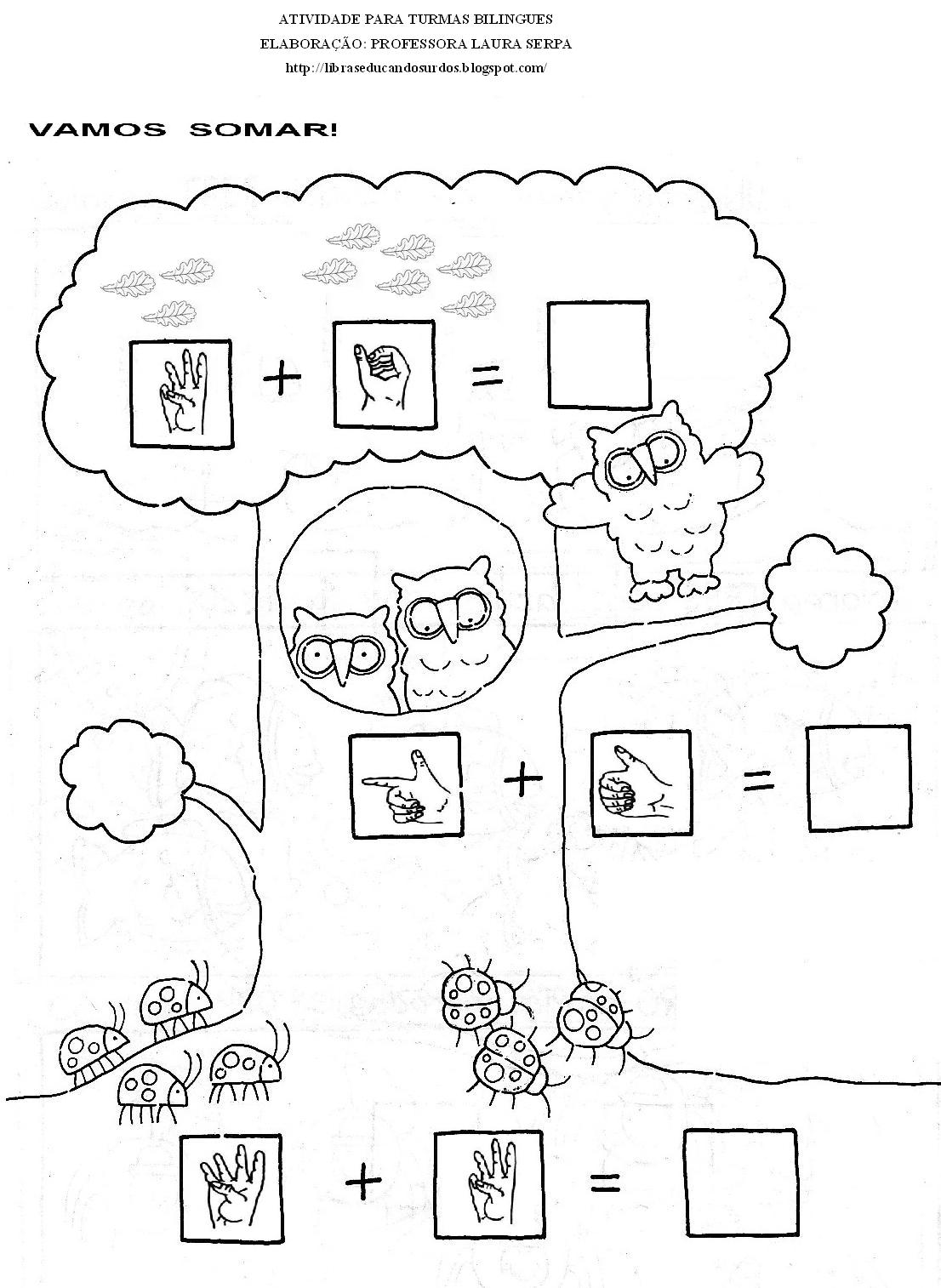 Libras Educandos Surdos Atividades Adaptadas De Matematica