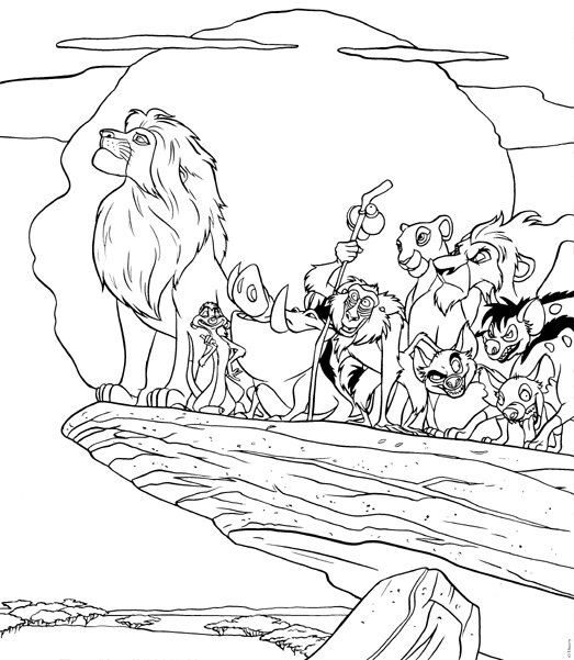 Hwfd Lion King Pride Rock Coloring Pages Free Hd Wallapapers Free Download