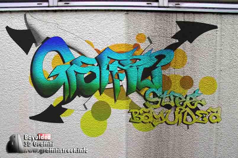 3D Graffiti Fonts Ideas