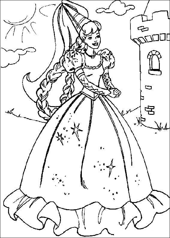 barbie dolls coloring pages free - photo#36
