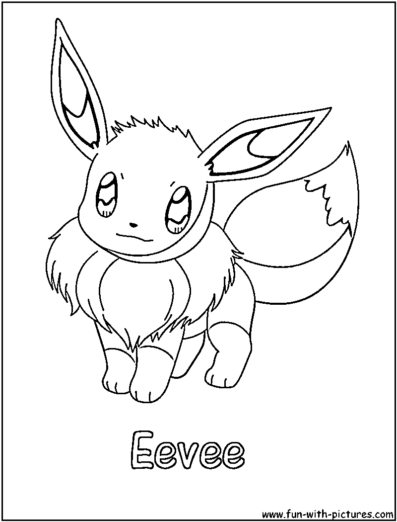 quot eeve quot coloring pages