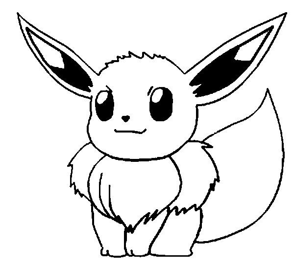 Pokemon Quot Eeve Quot Coloring Pages Kids
