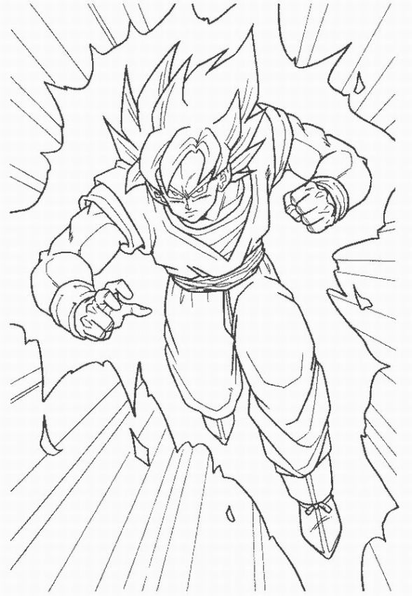 dragonballz coloring pages - photo#29