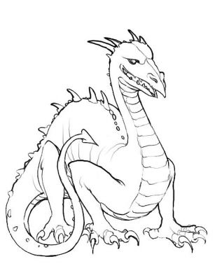 Printable coloring pages and dragons ~ blog creation2: Free Printable Animal Dragon Coloring Pages