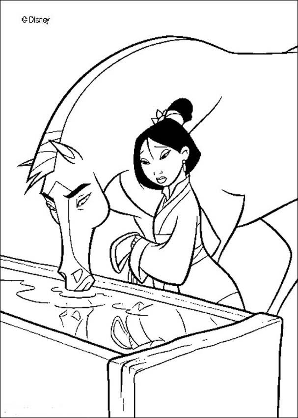 Mulan coloring pages on Coloring-Book.info | 850x607