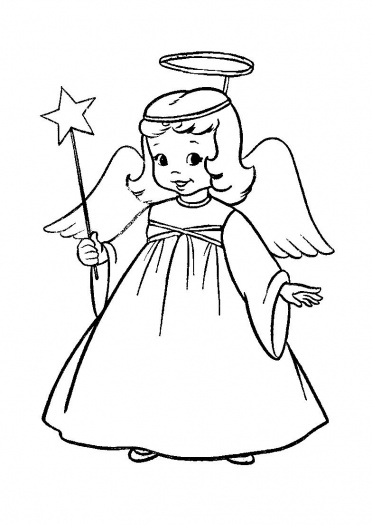 Free Printable : christmas angel colouring pages