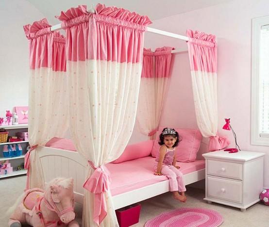 Cool Interior Design Bedroom For Girls Pink Color