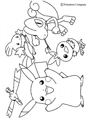 Pokemon pikachu and friends coloring pages