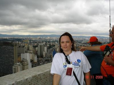Vista do centro de São Paulo desde o mirante do prédio do Banespa.