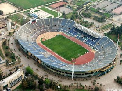 Estádio em Santiago do Chile onde o Brasil ganhou a Copa do Mundo de 1962.