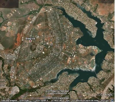 Brasília vista pelo Google Earth