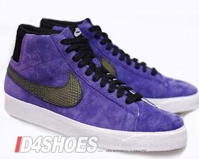 Día Desviar Comedia de enredo  Nike Blazer: Nike SB Purple Suede Blazer High Premium