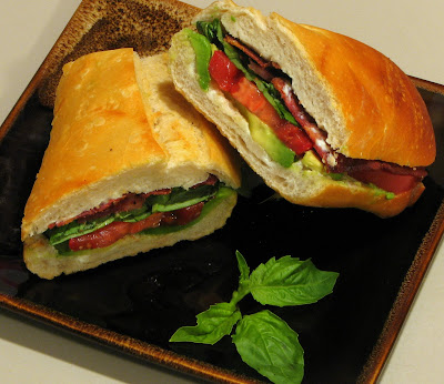 B.B.T.A (Bacon, Basil, Tomato & Avocado Sandwich)