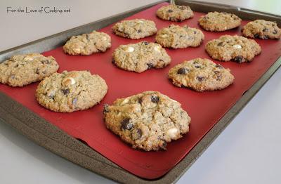 Oatmeal, Dark Chocolate and White Chocolate Chip Cookies