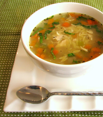 Chicken, Basil and Orzo Soup