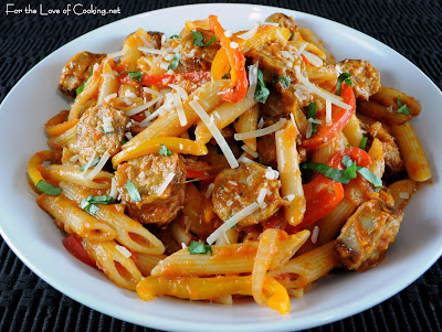 Penne with Sausage, Peppers, and Homemade Marinara