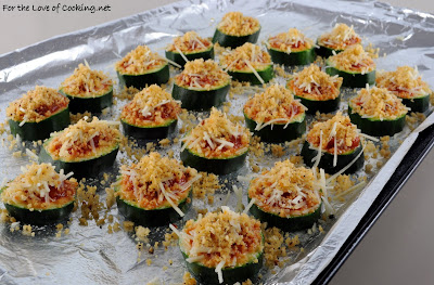 Zucchini Coins with Marinara and Parmesan