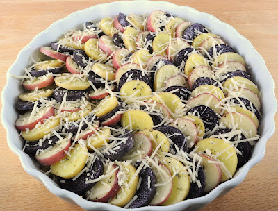 Potato Tian with Caramelized Onions and Parmesan