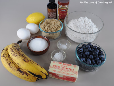 Banana, Blueberry, and Lemon Muffins