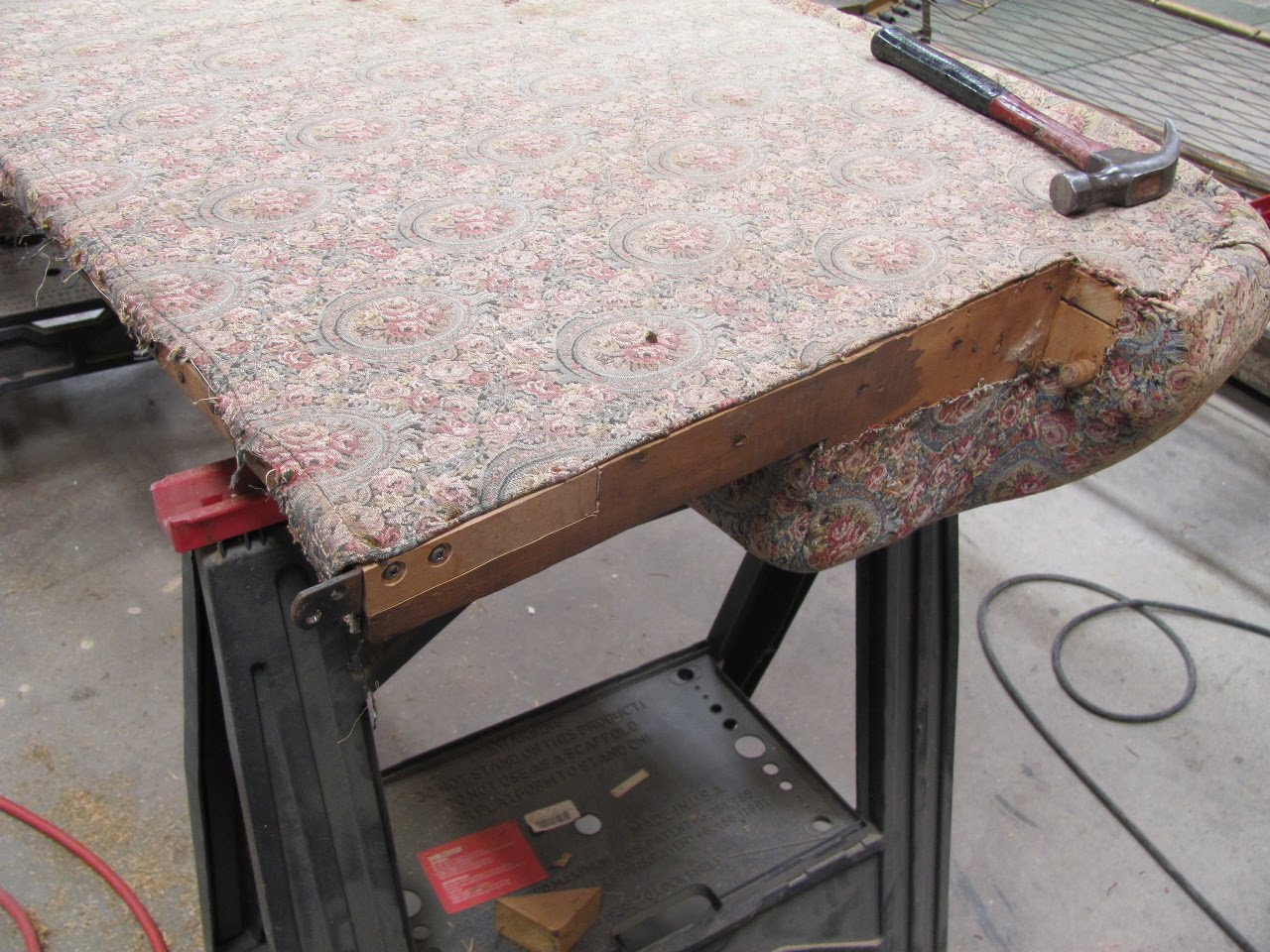 repair sofa wood frame rv with storage drawer thomas nelson furniture restoration antique sleeper