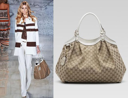 This Lovely Bag Is Made Of The Signature Beige Ebony Gg Fabric With Off White Leather And Guccissima Trim Light Gold Hardware