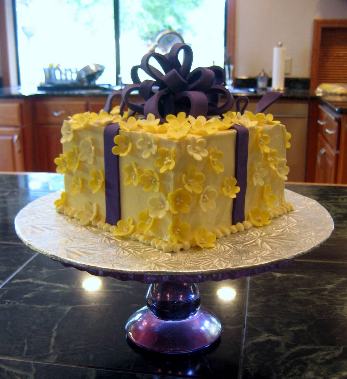 Jillicious Discoveries Three Purple Wedding Cakes: Jillicious Discoveries: Surprise Birthday Gift Cake (And