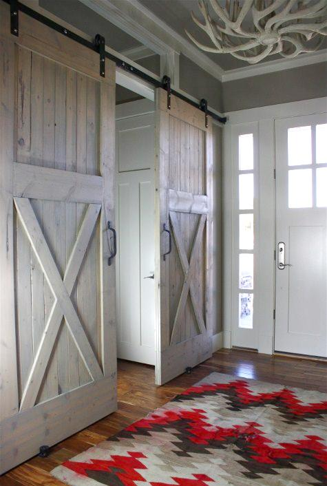 Sliding Barn Doors Used Inside | Content in a Cottage