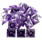 Loose Cubic Zirconia Amethyst Color Square Shape AAA Quality Stones